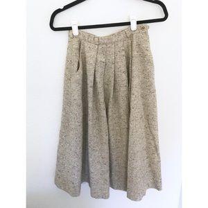 Vintage Tan High Waisted Circle Skirt